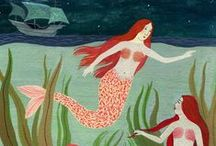 Nautical and water world / Prints, patterns and artwork related to nautical and underwater world.
