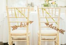 Chairs / by Aisle Perfect - Wedding Blog