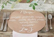 Menus / Wedding Menus #menus #weddingpaper #weddingmenu / by Aisle Perfect - Weddings