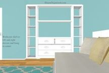 Girls Room ReDesign (SALT) / CLIENT BOARD:  Create a new space for growing daughter.  We will combine soft edges, superior storage, and room to play to create a calm but fun bedroom. / by HouseOrganized