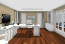 Her Office ReDesign (SGO) / Client Board: Creating a Home/Office that can encompass dual purpose.   Area one will be a professional desk setting, Area two will be a  space for quiet escape and unwinding.  Both areas will blend naturally. / by HouseOrganized