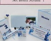 Set Botez Strumf 1 / BebeStudio11 - Personalizam invitatii, marturii, plicuri de bani, meniuri, nr de masa pentru botez.