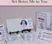 Set Botez Me to You / BebeStudio11 - Personalizam invitatii, marturii, plicuri de bani, meniuri, nr de masa pentru botez.