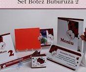 Set Botez Buburuza 2 / BebeStudio11 - Personalizam invitatii, marturii, plicuri de bani, meniuri, nr de masa pentru botez.