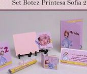 Set Botez Printesa Sofia 2 / BebeStudio11 - Personalizam invitatii, marturii, plicuri de bani, meniuri, nr de masa pentru botez.