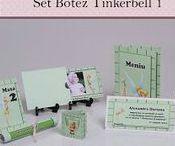 Set Botez Tinkerbell / BebeStudio11 - Personalizam invitatii, marturii, plicuri de bani, meniuri, nr de masa pentru botez.
