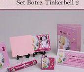 Set Botez Tinkerbell 2 / BebeStudio11 - Personalizam invitatii, marturii, plicuri de bani, meniuri, nr de masa pentru botez.