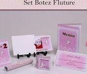 Set Botez Fluture / BebeStudio11 - Personalizam invitatii, marturii, plicuri de bani, meniuri, nr de masa pentru botez.
