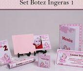 Set Botez Ingeras 1 / BebeStudio11 - Personalizam invitatii, marturii, plicuri de bani, meniuri, nr de masa pentru botez.