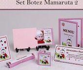 Set Botez Mamaruta 2 / BebeStudio11 - Personalizam invitatii, marturii, plicuri de bani, meniuri, nr de masa pentru botez.
