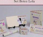 Set Botez  Botez Lola / BebeStudio11 - Personalizam invitatii, marturii, plicuri de bani, meniuri, nr de masa pentru botez.