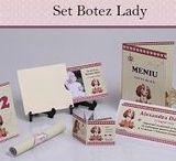 Set Botez Botez Lady / BebeStudio11 - Personalizam invitatii, marturii, plicuri de bani, meniuri, nr de masa pentru botez.