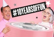 #10YEARSOFFUN - It's our BIRTHDAY! / It's May 2016, and for the WHOLE MONTH (because who doesn't love dragging out their birthday?) we're celebrating a fun and fabulous 10 years of #SoapandGlory with Head Office shenanigans, in-store events & fabulous competitions online.