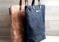 Waxed Canvas / waxed canvas tote bag