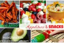 Need a Snack? / Need a quick snack? Try some of these tasty recipes. Some are mine - tried and true family favorites.  I'm Susie - a Social Media Consultant & Virtual Assistant. I create new recipes, quick easy meals, menu plans, crafts, cookbook reviews & a healthier lifestyle! http://www.SusieQTpiesCafe.com / by Susie @SusieQTpiesCafe.com