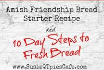Amish Friendship Bread  / When was the last time you had Amish Friendship Bread? Ever make your own Amish Friendship Bred Starter? Click around to get the starter recipe and bread recipes of this tasty Culinary Chain Letter. #AmishFriendshipBread #FriendshipBread    I'm Susie - a Social Media Consultant & Virtual Assistant. I create new recipes, quick easy meals, menu plans, crafts, cookbook reviews & a healthier lifestyle! http://www.SusieQTpiesCafe.com