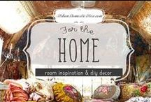 For the Home / A house is not a home without style and warmth. These are all room ideas and decorating projects that I like and want to some day tackle for our home. / by The Urban Domestic Diva (Flora C.)