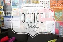 office ideas / DIY ideas for the office / by The Urban Domestic Diva (Flora C.)