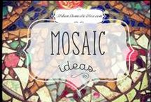 mosaic designs / I LOVE doing mosaics, and try to keep it fresh. Here are some ideas from talented fellow mosaic artists. / by The Urban Domestic Diva (Flora C.)
