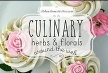 Culinary Herbs And Florals / move baking and infusing things with herbs and florals in unexpected ways-from lavender to roses to rosemary to basil. The internet is full of inspiration from talented fodies. Here's is a bunch to get us inspired!