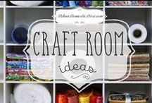 Craft room ideas / Ideas to organize and decorate my craft room. / by The Urban Domestic Diva (Flora C.)