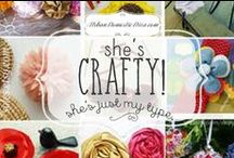 She's crafty, she's just my type! / I love crafting, and this board is all about ideas and crafting projects. #crafts / by The Urban Domestic Diva (Flora C.)