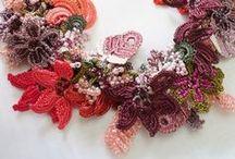 crochet /Fiber necklace