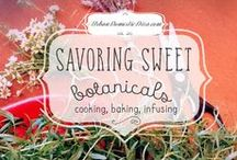 Savoring Sweet Botanicals / I'm obsessed with herbs and florals in sweet and cocktails, so much so that I wrote a mini ebook, complete with herbal how-to's and recipes for inspiration! This board is dedicated to my labor of love and new obsession. If you love botanical baking and infusions as much as I do, you may enjoy my book, Savoring Sweet, on Kindle, iBooks, Nook, Kobo, etc. Or my spinoff blog, SavoringSweet.com. Now let's get growing, infusing and baking! / by The Urban Domestic Diva (Flora C.)