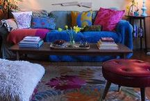 decorating / Take enough things that don't match, and they blend together perfectly.