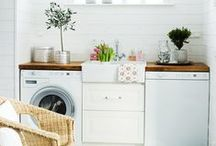 LAUNDRY Room // Family Closet / DIY Laundry room ideas + dreaming up a family closet / by Lauren // MERCY iNK
