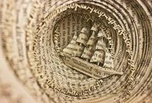 Book Art / super cool works of art made out of books