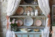 Home Decor Cabinets / vintage chippy cabinets, other cabinets decorated to the max / by Betty J Roberts