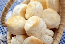 Food Biscuits / lots of recipes...a favorite recipe I have is Angel Biscuits.  My Aunt used to make cathead biscuits...all that means is they was huge biscuits.   / by Betty J Roberts