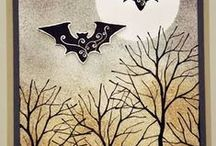 Cardmaking-Halloween & Autumn / Free instructions to spooky and fun handmade Halloween cards.