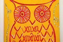 Owls..skull and crossbones...chi o cuties / Chi-O till I die-O