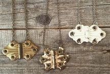my vintage repurposed jewelry creations / repurposed and reloved creations by moi...more @ http://ChristineStollOnEtsy.etsy.com