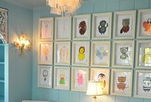 Neat Ideas | Kid Stuff / Art displays and room decor, mostly