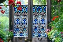 Stained Glass / People are like stained - glass windows. They sparkle and shine when the sun is out, but when the darkness sets in, their true beauty is revealed only if there is a light from within. ~Elisabeth Kubler-Ross