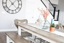 Farmhouse Home Decor / Farmhouse decorating ideas and inspiration. Shows like Fixer Upper with Chip and Joanna Gaines has made the farmhouse decor style very popular!