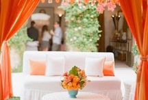 Color Palette: Tangerine / Pantone selected Tangerine Tango as their 2012 Color of the Year. We're collecting inspiration to incorporate this vibrant color into your wedding planning.