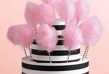 Black, White and Pink Wedding / Black, pink, and white makes a bold statement as your wedding theme colors.