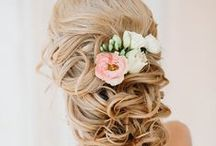 Wedding Hairstyles / Up, down, curly, accessorized-- your wedding day hair should make you still look like yourself, just on a really good hair day.