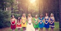 Colorful Wedding / Can't decide on a color theme for your wedding? Why not use them all!? A rainbow wedding is fun, cheerful and makes for great wedding photos!