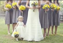 Yellow and Silver Color Themed Wedding / Spread a little sunshine. Use yellow on your wedding day.