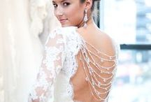 Focal-Point Dress Backs / With lace, peepholes, trains, and more, the back of a wedding dress can be more exciting than the front! Often times the guests at your wedding will see the back of your dress throughout most of your ceremony. / by Colin Cowie Weddings