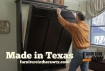 Murphy Beds and Wall Beds / The Murphy bed is named for William Lawrence Murphy around 1900 in San Francisco.  Furniture in the Raw's Texas made all wood Murphy Beds are extremely popular. Wall beds can double your room space and look good doing it.