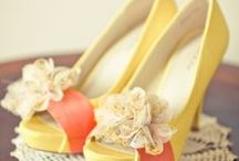 Coral and Yellow Themed Wedding
