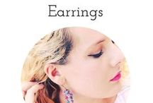 Unique Handmade Earrings / Original, unique, colorful handmade dangle earrings on Etsy by BluKatDesign