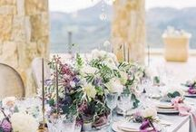Color Palette: Purple / Purple is one of the most consistently hot colors for wedding decor & fashion. Find inspiration for purple wedding cakes, bridesmaids' dresses, flowers, and more!
