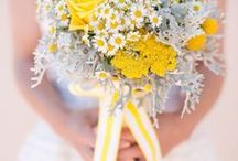 Color Palette: Yellow / Using yellow in your wedding decor will really pop! Find inspiration for yellow bridesmaids' dresses, wedding cakes, flowers, and more.